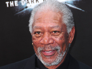 The Dark Knight Rises World Premiere: Morgan Freeman
