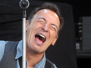 Bruce Springsteen plays at the Hard Rock Calling music festival in Hyde Park, London