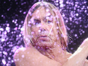 Iggy Pop plays at the Hard Rock Calling music festival in Hyde Park, London