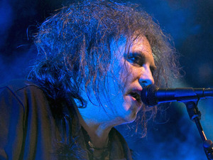 Robert Smith of The Cure performing live on stage during the Optimus Alive Festival in Lisbon