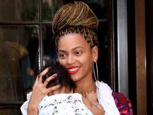 Beyonce Knowles is pictured out and about with daughter Blue Ivy Carter in New York
