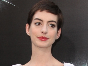 Actress Anne Hathaway at the world premiere of the latest Christopher Nolan Batman film 'The Dark Knight Rises', held at the AMC Lincoln Square Theater in New York