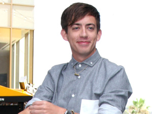 'Glee' star Kevin McHale pictured at the FOX and Teen Choice 2nd Annuel Energy Playground at the Hollywood and Highland Courtyard in Los Angeles