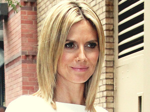 Model and actress Heidi Klum outside the ABC Studios in New York after appearing on 'Live With Kelly'