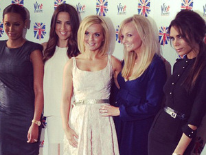 Christian Vermaak posted this image on Instagram of the re-united Spice Girls (Mel B (Melanie Brown), Mel C (Melanie Chisholm), Geri Halliwell, Emma Bunton and Victoria Beckham) with the caption 'Spice Ladies' Credit: Christian Vermaak/Twitter, Supplied by WENN.com(WENN does not claim any Copyright or License in the attached material. Any downloading fees charged by WENN are for WENN's services only, and do not, nor are they intended to, convey to the user any ownership of Copyright or License in the material. By publishing this material, the user expressly agrees to indemnify and to hold WENN harmless from any claims, demands, or causes of action arising out of or connected in any way with user's publication of the material.)