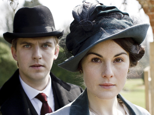 Dan Stevens and Michelle Dockery in Downton Abbey