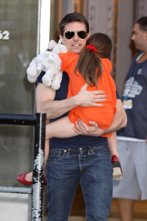 Tom Cruise and daughter Suri leaving Chelsea Piers, after spending the day (July 17) together for the first time since his divorce from Katie Holmes