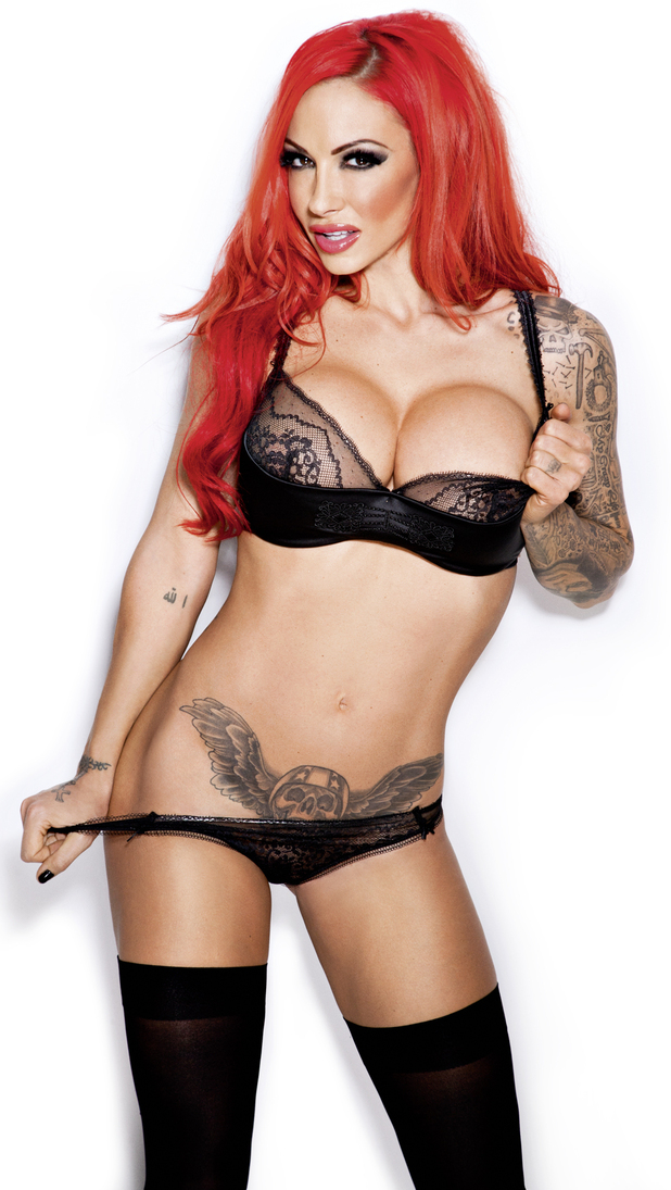 Jodie Marsh poses for Zoo magazine