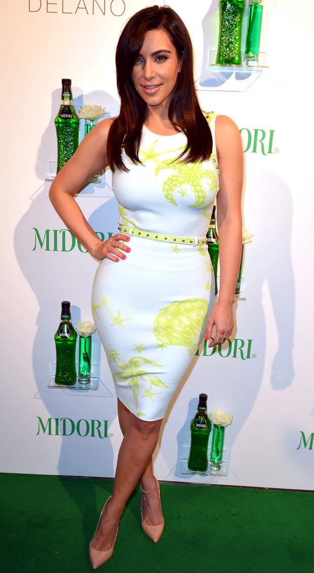 Kim Kardashian hosts the Midori Beachside Bash at Delano Beach Club, Miami.