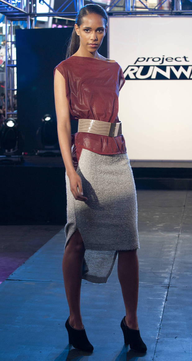 Beatrice Guapo's final design for the premiere challenge of Project Runway Season 10.