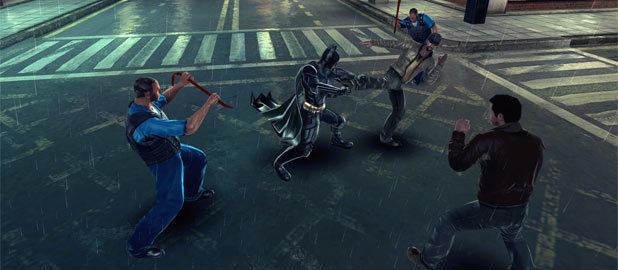 Screenshot from the Dark Knight Rises iPad game