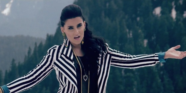 Nelly Furtado in 'Spirit Indestructible' music video.