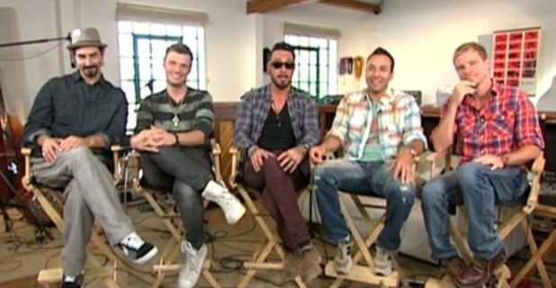 Backstreet Boys on 'Good Morning America'.