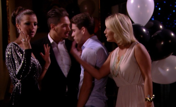 Lucy Mecklenburgh and Sam Faiers TOWIE confrontation