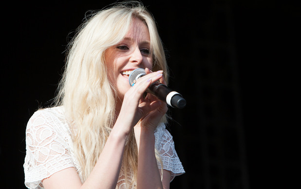 Diana Vickers on stage at Ponty&#39;s Big Weekend 2012, Wales. 