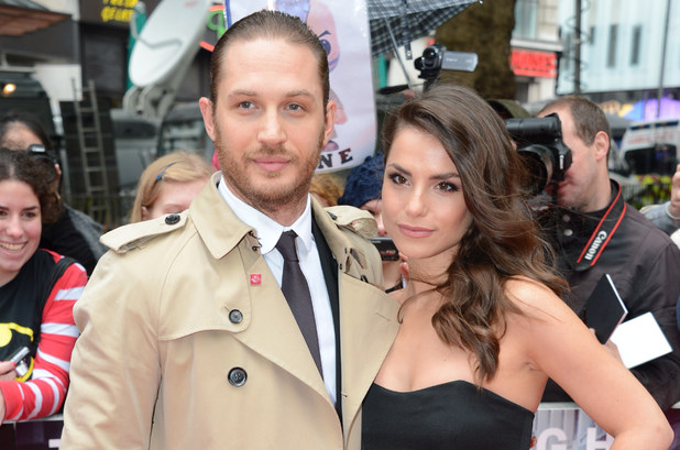 Tom Hardy and Charlotte Riley at the UK premiere of 'The Dark Knight Rises'