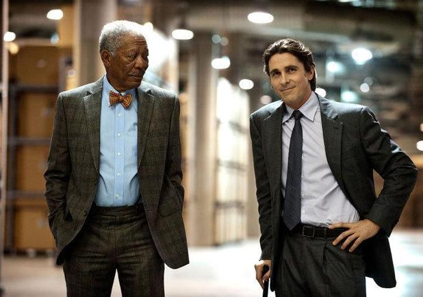 The Dark Knight Rises Lucius Fox Bruce Wayne