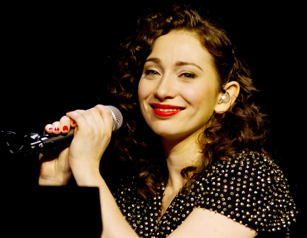 Singer-songwriter Regina Spektor performing live in Moscow, Russia