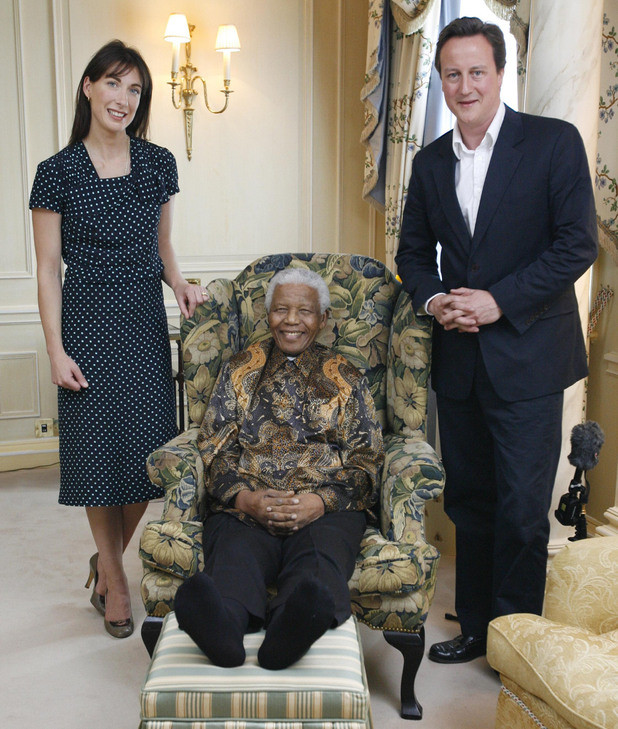 Nelson Mandela and the Camerons