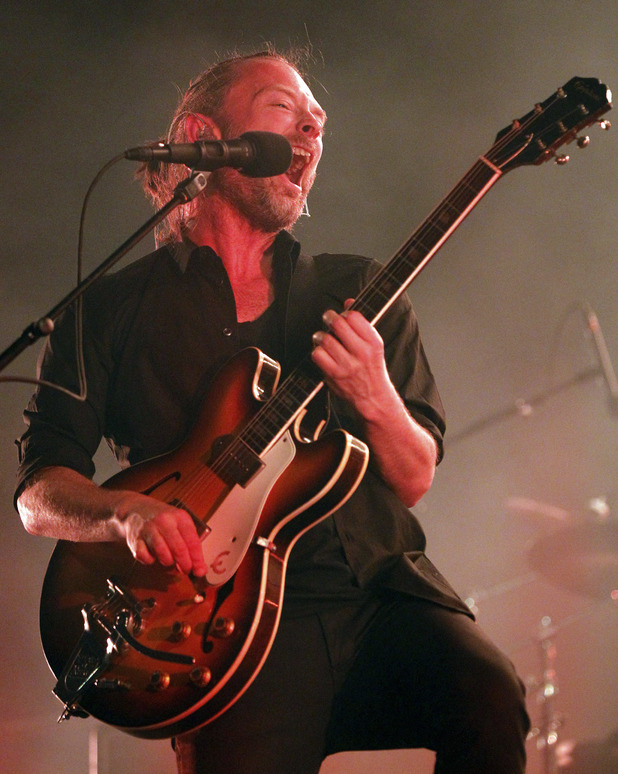 Thom York of Radiohead performing live on stage during the Optimus Alive Festival in Lisbon