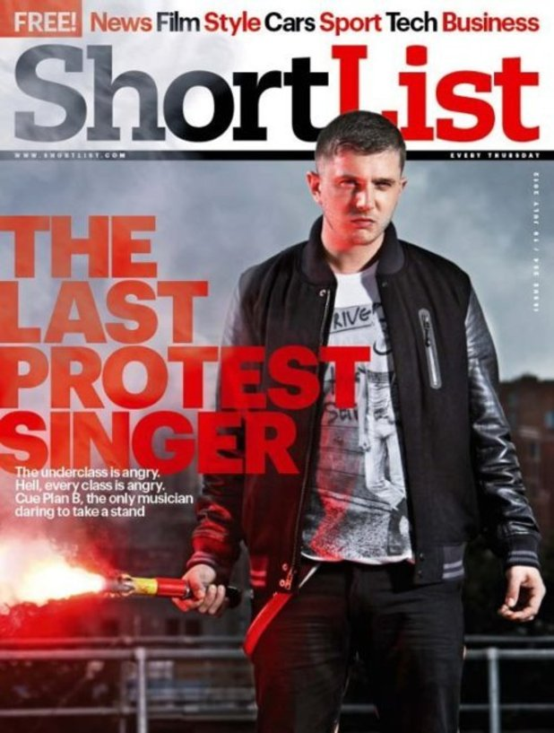 Plan B on the cover of Shortlist