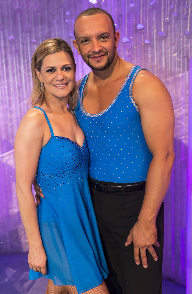 Jamie Baulch with partner Maria Fillapov