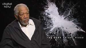 'Dark Knight Rises' Morgan Freeman interview - video