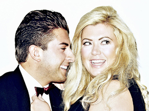 Gemma and Arg in an embrace for Heat magazine