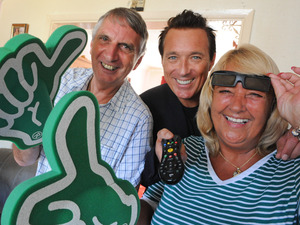 Martin Kemp installs Virgin Media's 1 millionth TiVo box