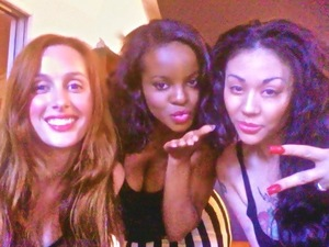 Mutya Keisha Siobhan in the recording studio.