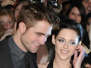 Robert Pattinson and Kristen Stewart at The Twilight Saga: Breaking Dawn: Part 1 film premiere, held at Westfield, London, England - 16.11.11