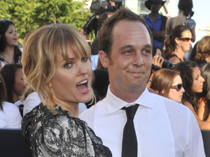 Sunny Mabrey, left, and Ethan Embry, right, arrive at the premiere of &quot;The Twilight Saga: Eclipse&quot;