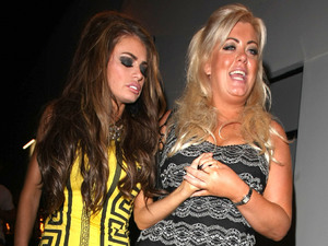 Gemma Collins and Chloe Sims leave The Villa nightclub in Epping.