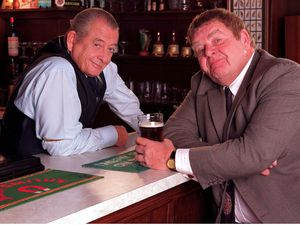 Derek Fowlds and Geoffrey Hughes in 'Heartbeat'