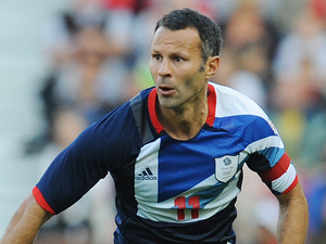 Team GB Men's captain Ryan Giggs during the Olympic Warm Up match at the Riverside stadium, Middlesbrough.