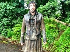 Gary Lightbody on the set of 'Game of Thrones'