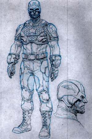 Redesign of Captain America&#39;s costume