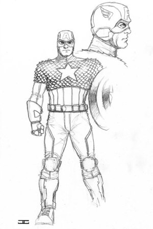 Redesign of Captain America's costume
