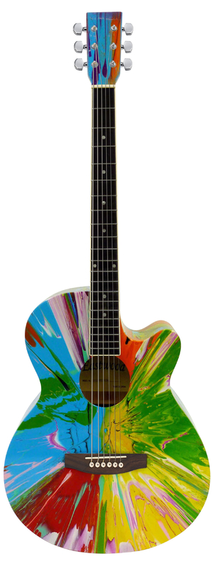 Damien Hirst's acoustic guitar