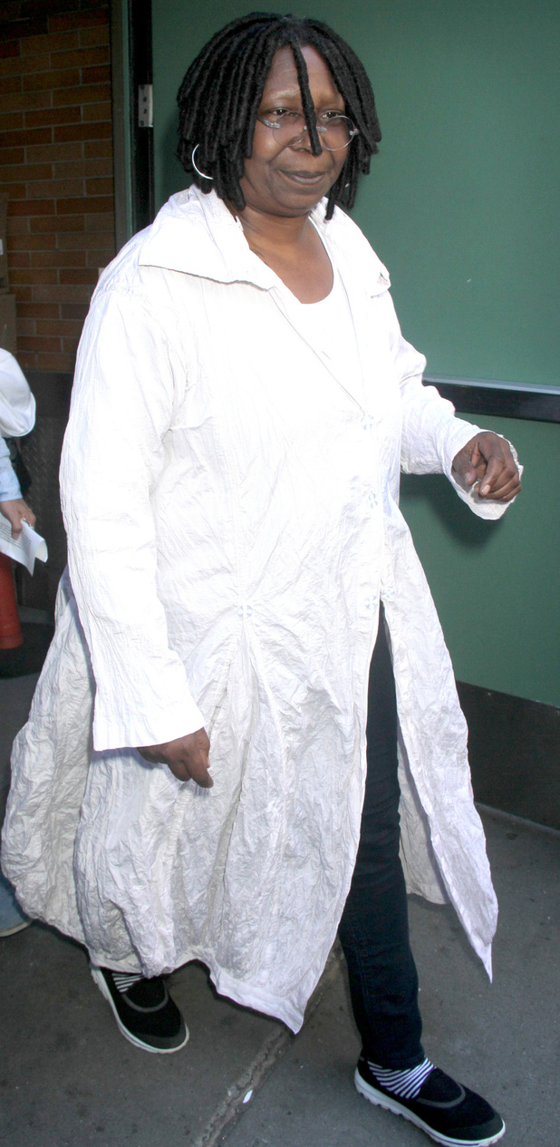 Whoopi Goldberg outside the 'Good Afterrnoon America' studios.