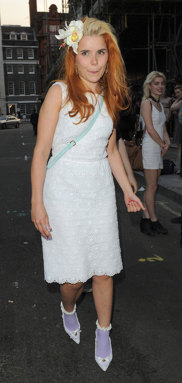 Paloma Faith leaving Morton's private members club.London