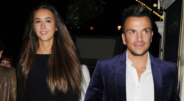 Peter Andre and Emily MacDonagh leaving the Piccadilly Theatre after watching the stage production of 'Ghost The Musical' London, England - 17.07.12