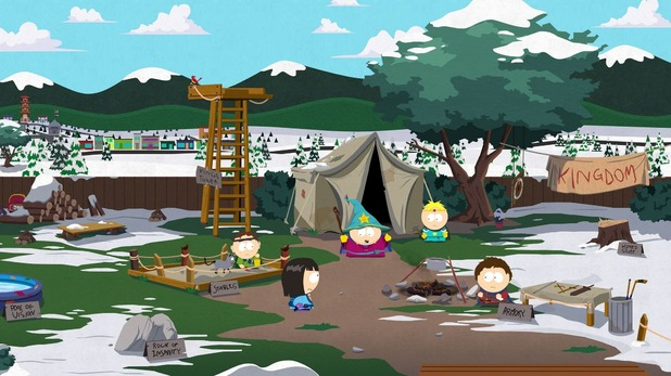 South Park: The Game screenshots and character art
