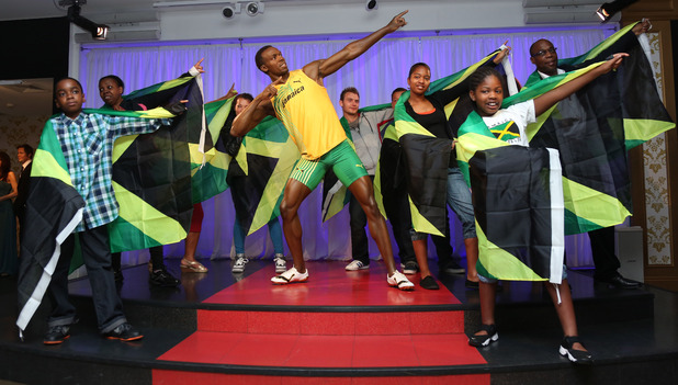 Usain Bolt waxwork figure launch at Madame Tussauds
