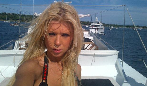 Tara Reid in St Tropez.