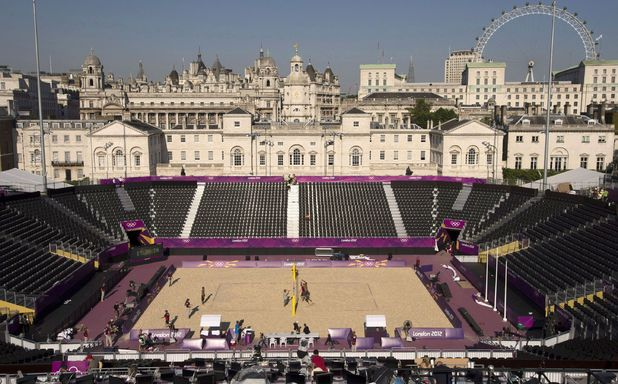 London 2012 Beach Volleyball venue at Horse Guards Parade