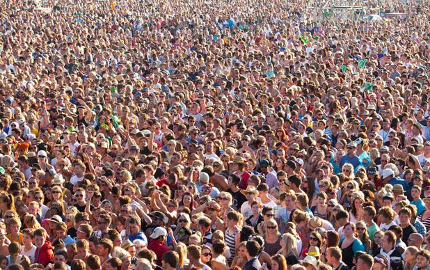 'V Festival' crowd