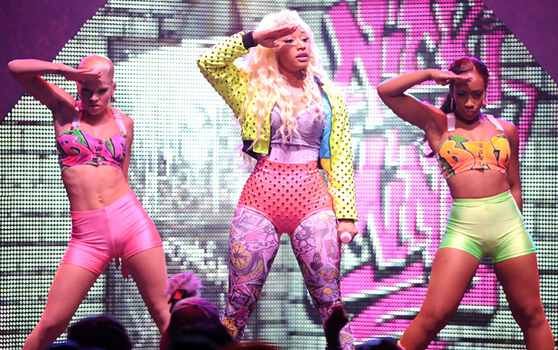 Nicki Minaj performs during the &#39;Pink Friday World Tour 2012&#39; at the James L. Knight Center