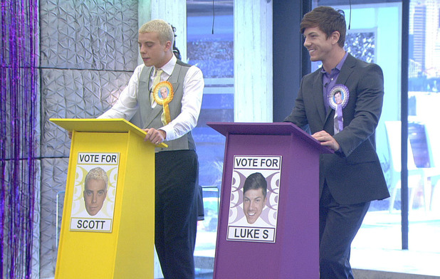 Luke S and Scott during the &#39;party politics&#39; task
