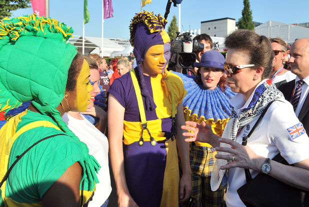 Princess Anne at Athletes Village